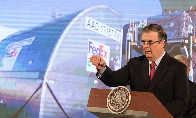 México recibirá 288 ventiladores y 300 mil pruebas PCR: Ebrard