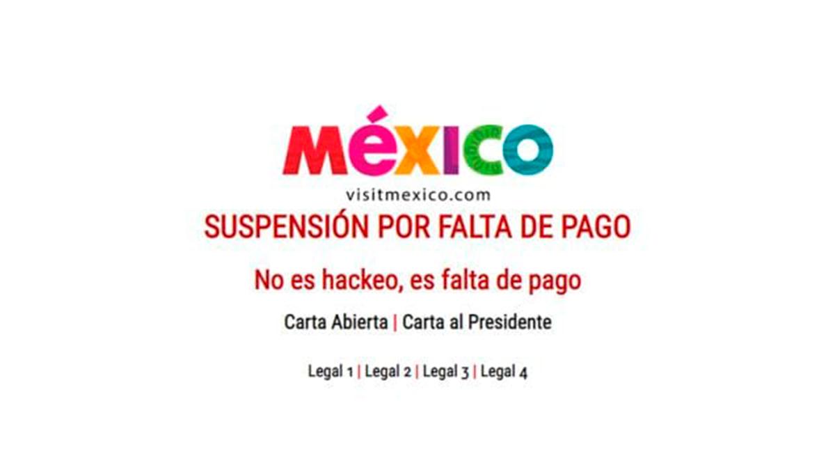 VisitMexico tuvo problemas de Falta de pago o Hackeada