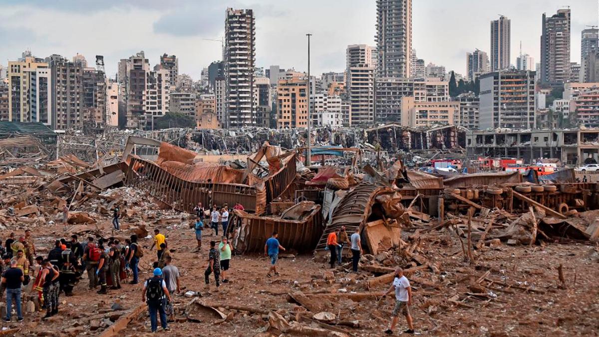 2 mil 750 toneladas de nitrato de amonio causaron explosiones en Beirut