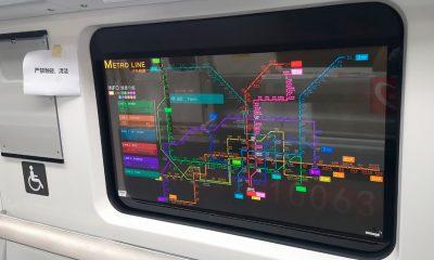 Pantallas OLED transparentes de LG en el metro de China
