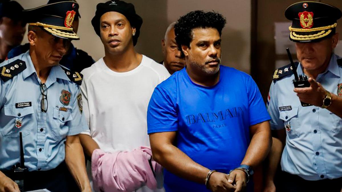 Ronaldinho fue liberado en Paraguay