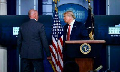 Trump interrumpe conferencia de prensa por tiroteo afuera de la Casa Blanca