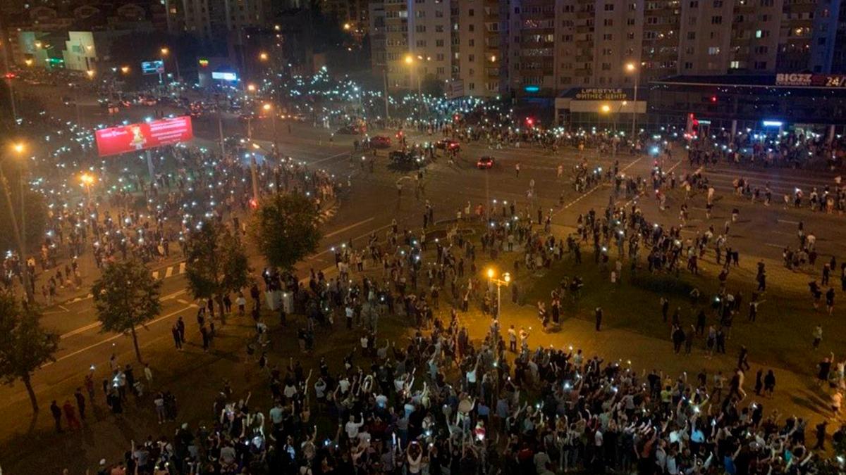 Violentos enfrentamientos en la capital de Bielorrusia