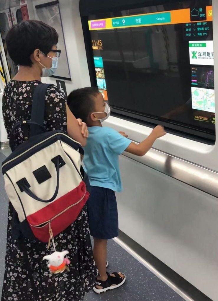 Pantallas OLED de LG en el metro de China