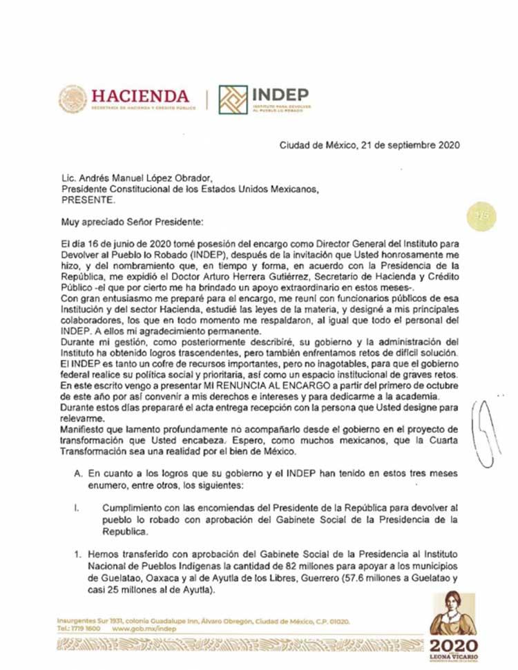 Carta de renuncia de Jaime Cardenas1