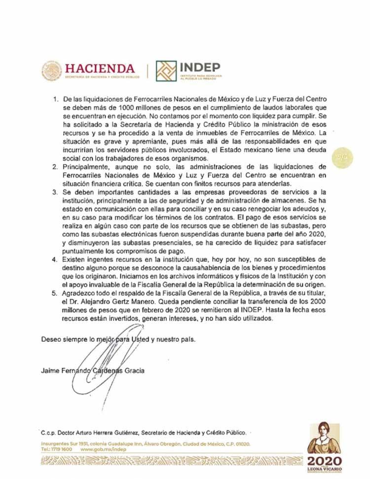 Carta de renuncia de Jaime Cardenas5