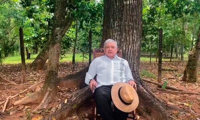 El Presidente Andrés Manuel López Obrador da un mensaje sabatino desde Palenque