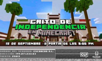 El municipio de Escobedo dará el Grito de Independencia en Minecraft