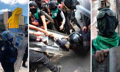 Enfrentamiento entre Policías y Feministas en CDMX