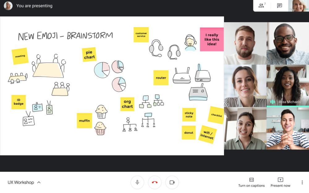 Google Meet Jamboard whiteboard 1