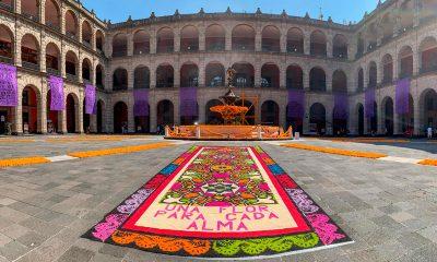 Dedican ofrenda a víctimas de Covid-19 en Palacio Nacional