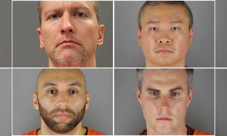 Derek Chauvin y los otros policias acusados de corresponsabilidad en el asesinato de George Floyd 1