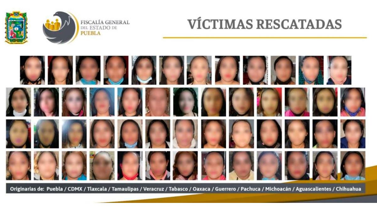 74 mujeres fueron rescatadas de explotación sexual en puebla
