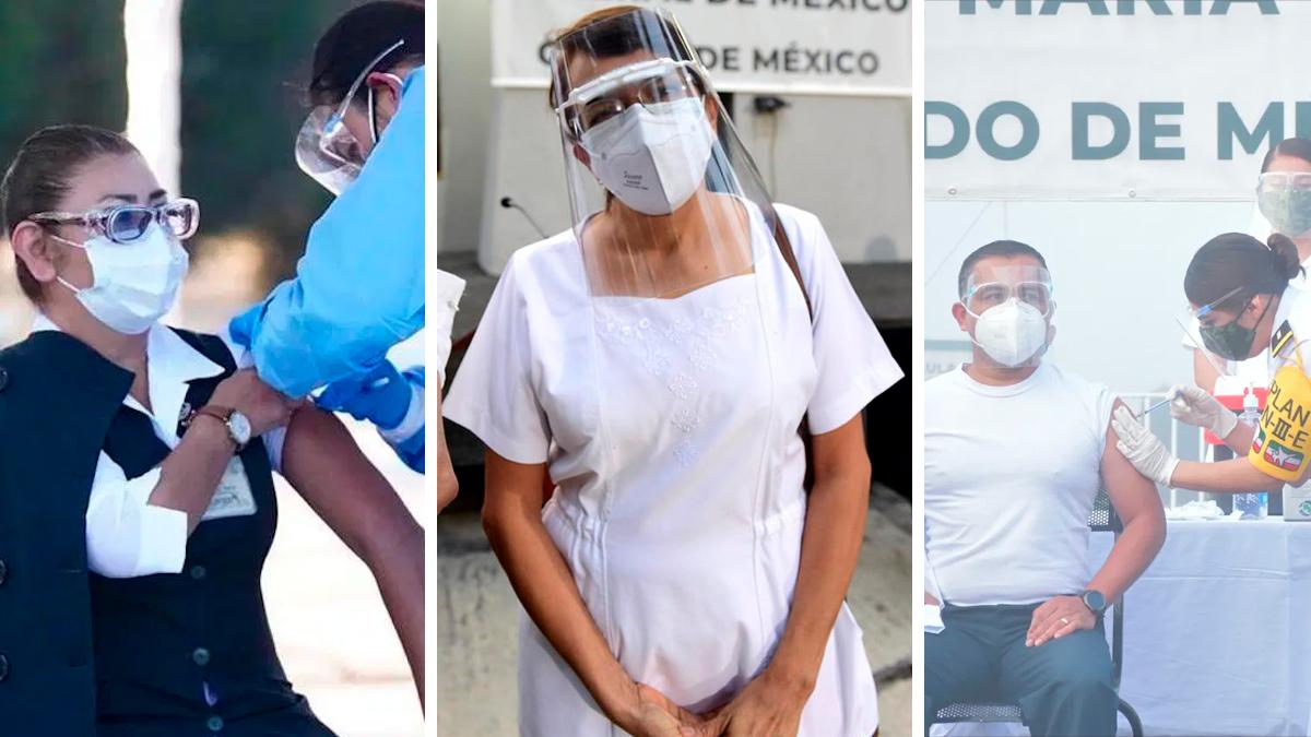Los primeros mexicanos en recibir la primera vacuna anticovid en México
