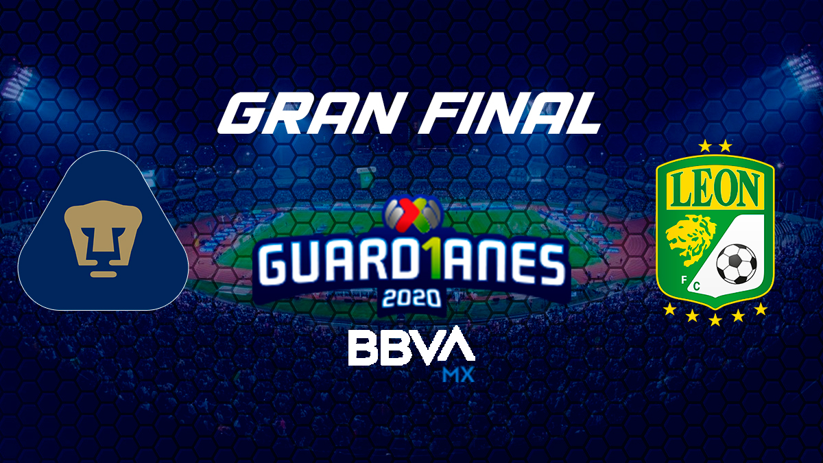 Pumas vs León la final 2020 del torneo GUARD1ANES