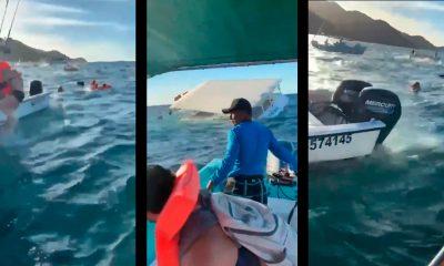 Crucero se hundió con 60 personas a bordo en Puerto Vallarta