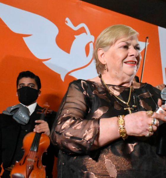 Paquita la del Barrio precandidata a diputada en Veracruz por MC
