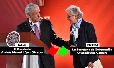 Sale AMLO entra Olga Sánchez Cordero para estar en las mañaneras