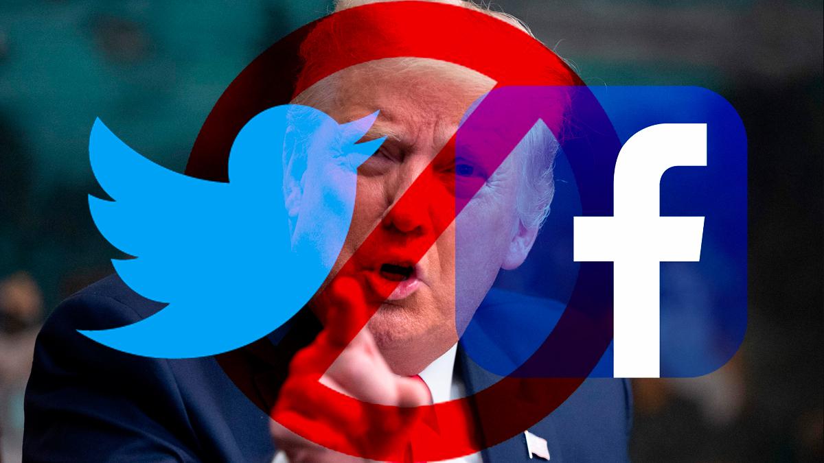 Twitter y Facebook bloquean cuentas de Donald Trump por infracciones a sus políticas
