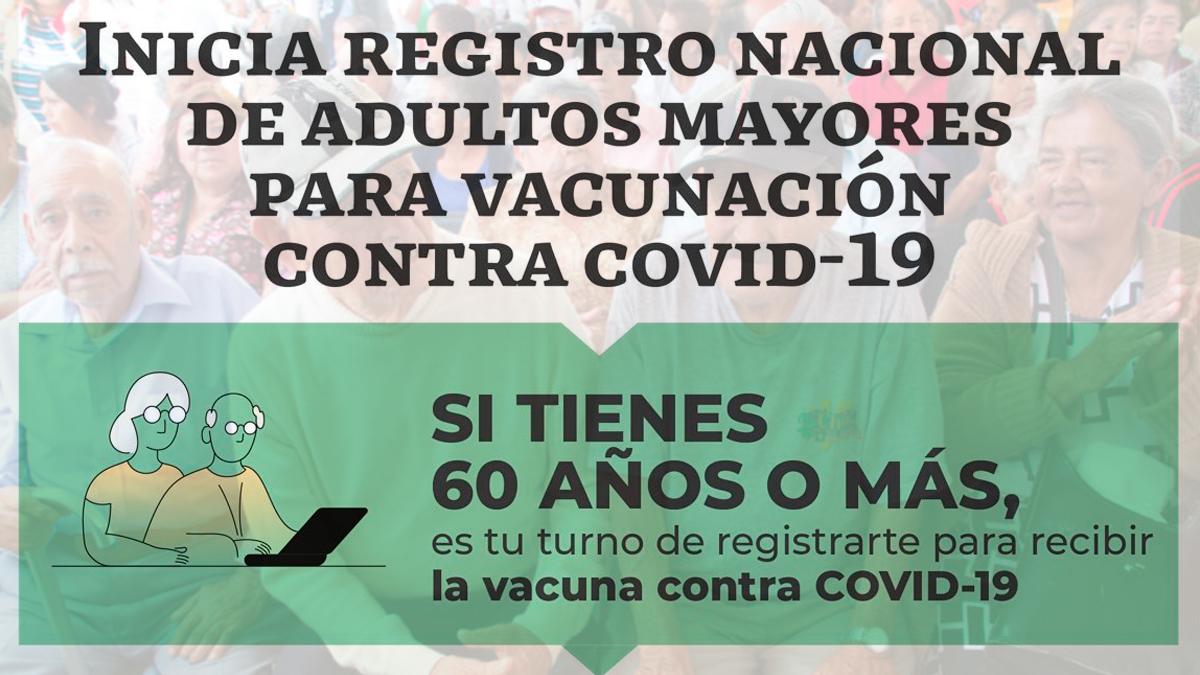 México abre el registro para que adultos mayores de 60 años puedan recibir la vacuna contra el COVID-19