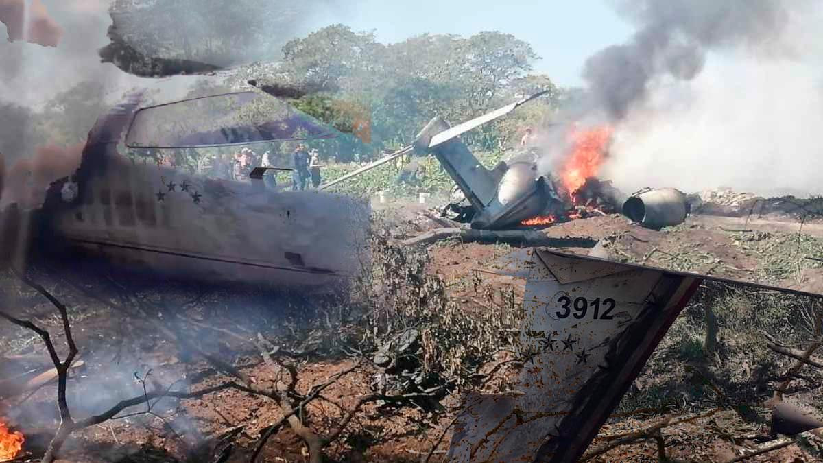 Se desploma una aeronave de la Sedena en Veracruz