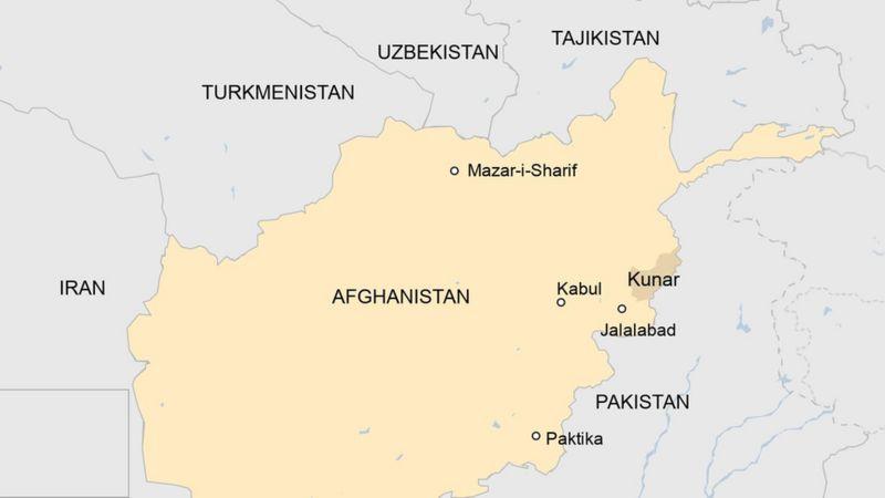 mapa afghanistan